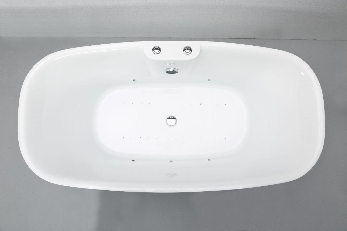 Baignoire Balneo Ilot Tao Bulle L 170 X L 80 Cm Spalina